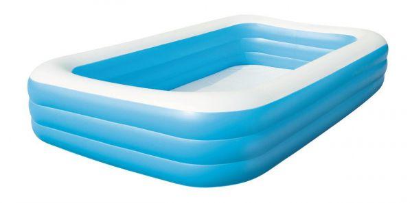"Bestway 54009 Family Pool ""Blue Rectangular Deluxe"", 305 x 183 x 56 cm"