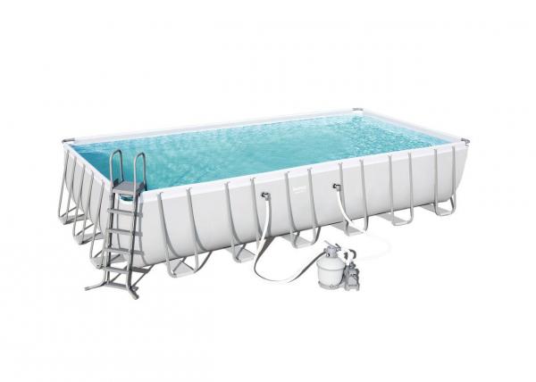 Power Steel Rectangular Pool Set 732x366x132cm Stahlrahmenpool