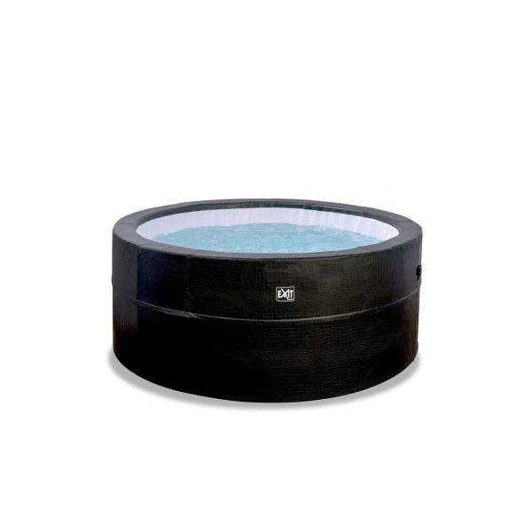 Leather Premium Whirlpool ø184x73cm - schwarz