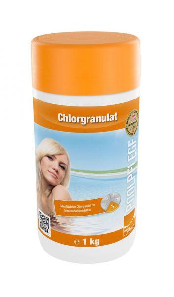 Chlorgranulat für Pool, Wasserpflege, 1kg Dose