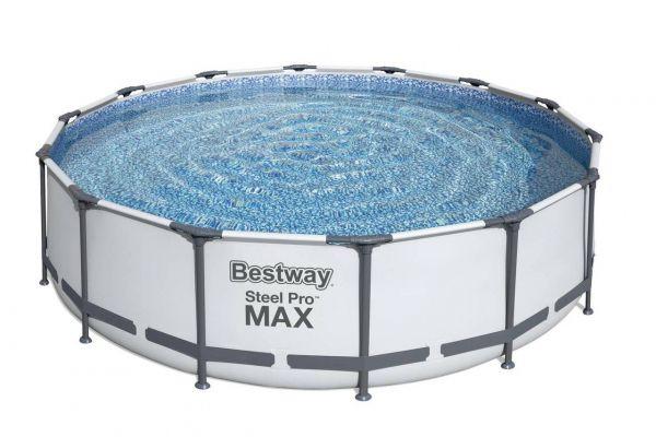 Steel Pro Max Frame Pool Komplett-Set, rund, Ø427x107 cm