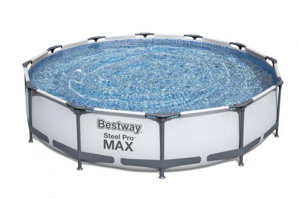 Steel Pro MAX Framepool Set, rund, Ø366 x 76 cm