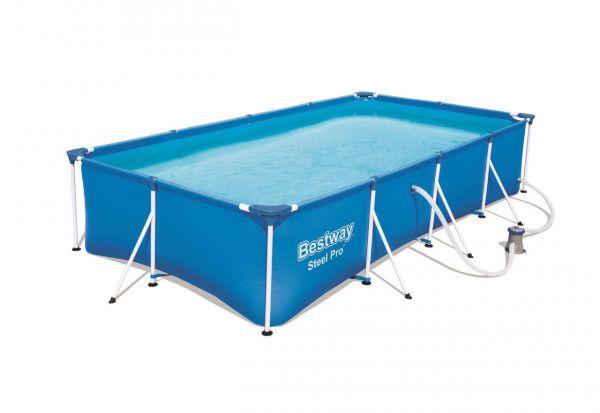 Bestway 56424 Pool Stahlrahmen mit Filterpumpe
